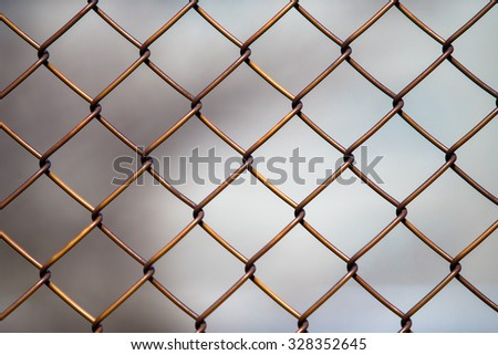 seamlessly tillable chain link fence with park in background
