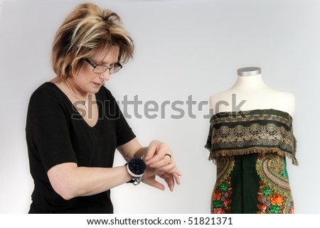 seamstress - stock photo