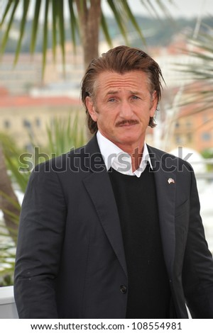 "Sean Penn at photocall for ""Haiti Carnaval in Cannes"" at the 65th Festival de Cannes. May 18, 2012  Cannes, France Picture: Paul Smith / Featureflash"