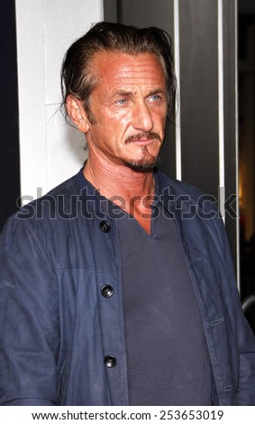 "Sean Penn at the Los Angeles premiere of ""Gangster Squad"" held at the Grauman's Chinese Theatre in Los Angeles, California, United States on January 7, 2013. - stock photo"