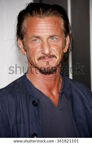 "Sean Penn at the Los Angeles premiere of ""Gangster Squad"" held at the Grauman's Chinese Theatre in Los Angeles, USA on January 7, 2013. - stock photo"
