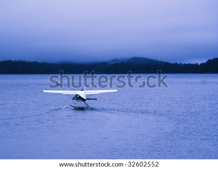 Seaplane ready for Take Off, Canada - stock photo