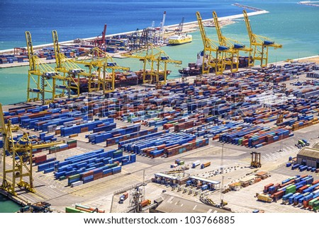 Seaport - stock photo