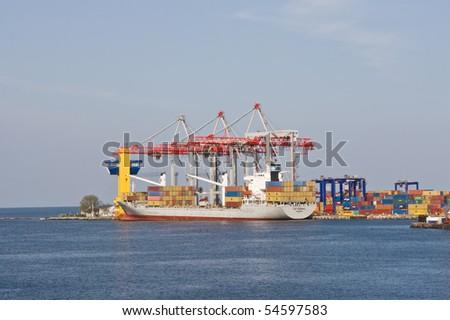 Seaport  in Odessa. Ukraine - stock photo