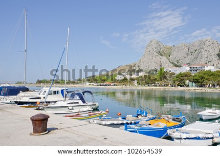 Seaport in Omis, Croatia