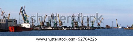 Seaport  panorama. Taganrog, Russia - stock photo