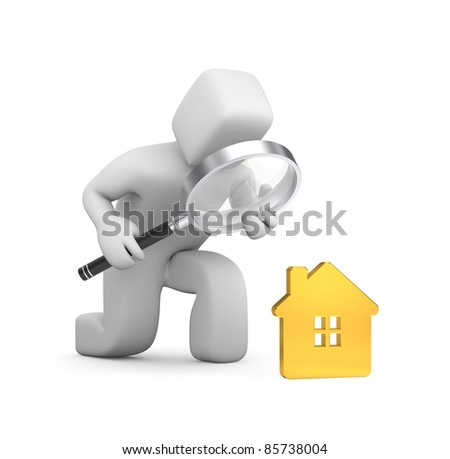 Search a best house. Image contain clipping path - stock photo