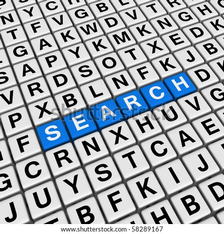search  (blue-white cubes crossword series)