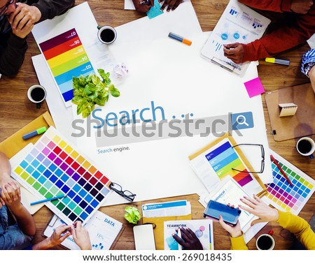 Search Browse Find Internet Search Engine Concept - stock photo
