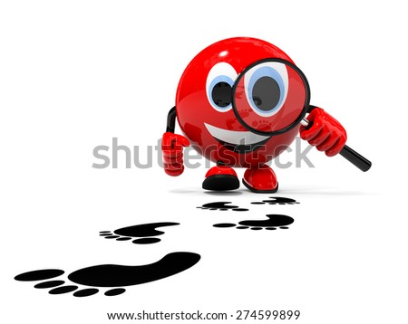 Search concept. Illustration with 3d character. - stock photo