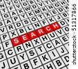 search (crossword series) - stock photo