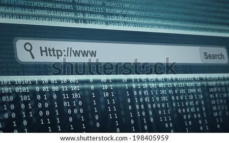 Search Engine Bar - stock photo