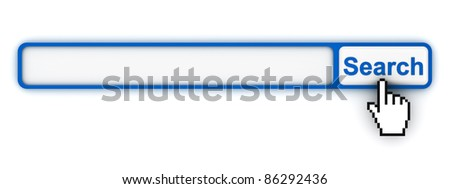 Search engine button with blank box - stock photo