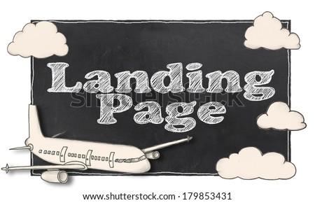 Search Engine Marketing on Blackboard - stock photo