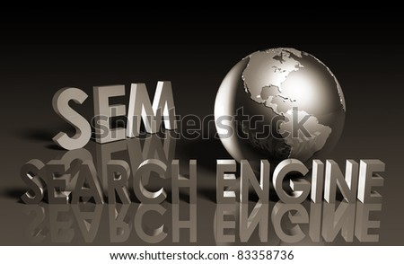 Search Engine Marketing SEM Ranking as Concept - stock photo