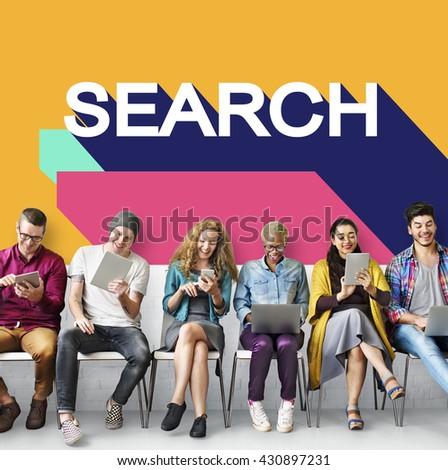 Search Engine Optimisation Finding SEO Seeking Concept - stock photo