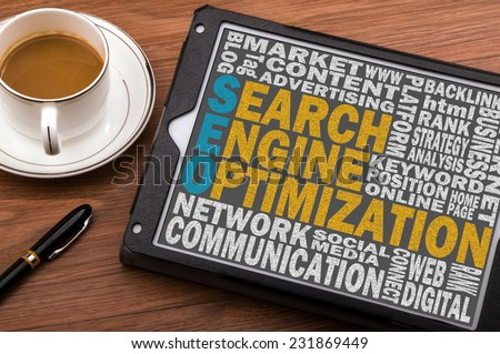 search engine optimization concept - stock photo