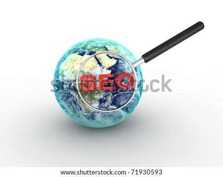 Search Engine Optimization concept - stock photo