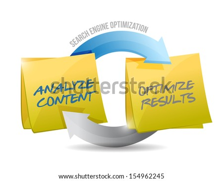 search engine optimization cycle illustration design over white - stock photo