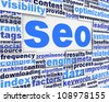 Search engine optimization poster conceptual design. Marketing strategy concept - stock photo