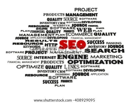Search engine optimization SEO concept - stock photo