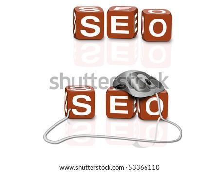 search engine optimizing seo internet web site ranking - stock photo