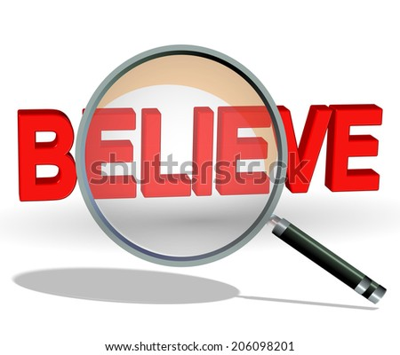 search find believe - stock photo