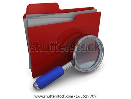 Search Folder - 3D - stock photo
