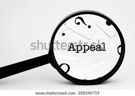 Search for appeal - stock photo