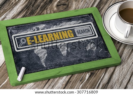 search for e-learning concept on blackboard