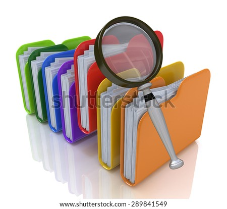 Search for files in the folder  - stock photo