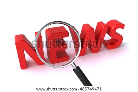 search for news (3d rendering)