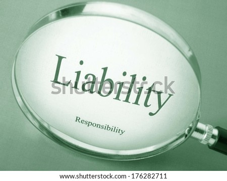 Search for responsibility - stock photo