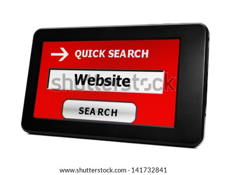 Search for website - stock photo