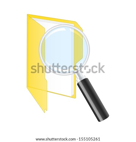 Search icon. 2d illustration. - stock photo