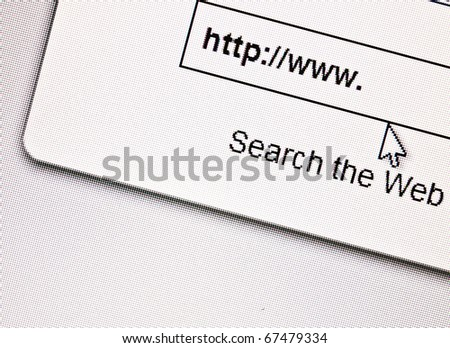 Search internet conceptual image - stock photo