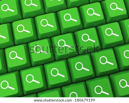 Search key on a green keyboard - stock photo