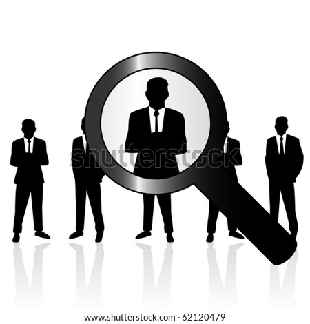 Search people - stock photo