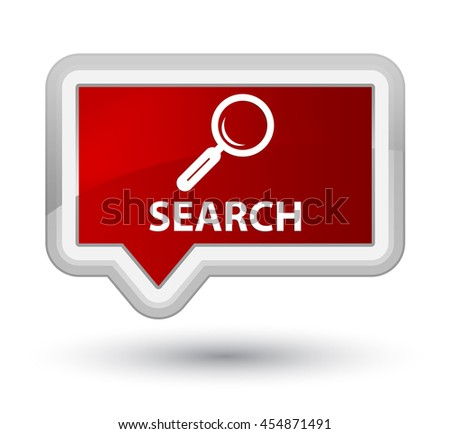 Search red banner button - stock photo
