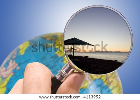 search travel place - stock photo