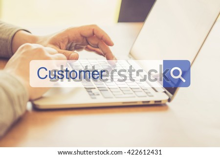 SEARCH WEBSITE INTERNET SEARCHING CUSTOMER CONCEPT - stock photo