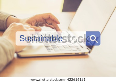 SEARCH WEBSITE INTERNET SEARCHING SUSTAINABLE CONCEPT - stock photo