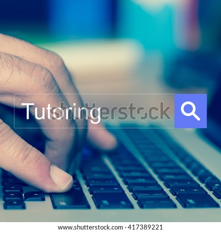 SEARCH WEBSITE INTERNET SEARCHING Tutoring CONCEPT - stock photo