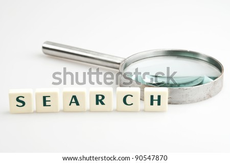 Search word and magnifying glass