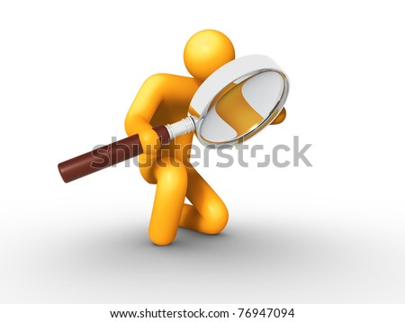 Searching. - stock photo