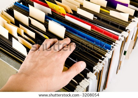 searching a file, business concept - stock photo