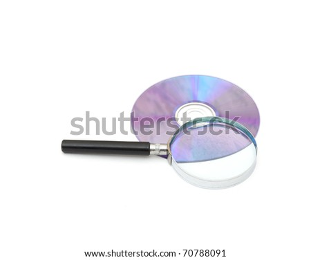 searching digital data concept. isolated on white - stock photo
