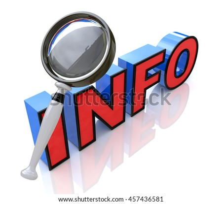 Searching for information in the design of the information related to the information and search. 3d illustration - stock photo