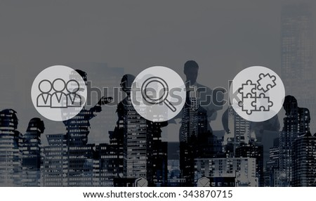 Searching Human Resources Recruitment Teamwork Corporate Concept - stock photo