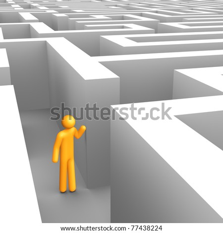 Searching in the Maze. - stock photo